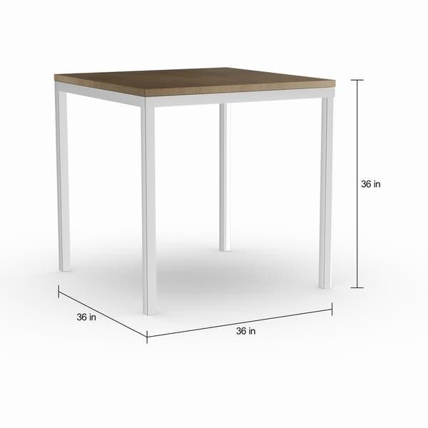 Pleasant Shop Silver Orchid Buelow Weathered Grey Counter Table On Short Links Chair Design For Home Short Linksinfo