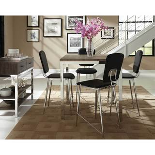 coaster company eldridge collection weathered grey counter table - Counter Height Table And Chairs