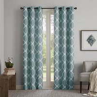 Madison Park Essentials Almaden Fretwork Printed Grommet Top Curtain Panel Pair