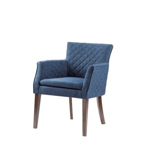 Madison Park Nicole Quilted Back Dining Chair--Navy