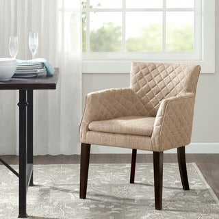 Madison Park Nicole Quilted Back Dining Chair--Cream