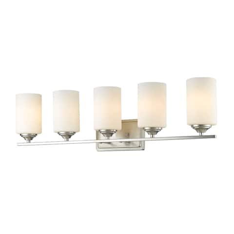 Avery Home Lighting Bordeaux 5-lights Brushed Nickel Vanity