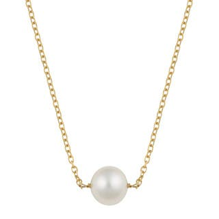 Fremada 14k Yellow Gold Delicate Freshwater Pearl Necklace (16 inches) https://ak1.ostkcdn.com/images/products/10600627/P17673235.jpg?impolicy=medium