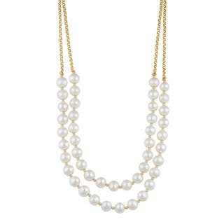 Fremada 14k Yellow Gold Double Strand Freshwater Pearl Necklace (16 inches) https://ak1.ostkcdn.com/images/products/10600634/P17673241.jpg?impolicy=medium