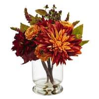 Dahlia & Mum w/Vase Arrangement