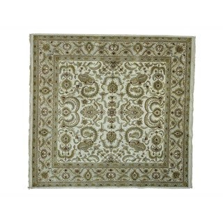 Square Rajasthan Thick and Plush Hand-knotted Oriental Rug (9'6 x 10')