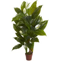 4.5-foot Spathyfillum Plant (Real Touch)