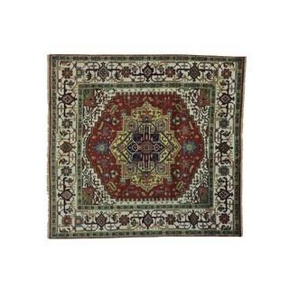 Wool Square Serapi Heriz Oriental Rug Handmade (7'10 x 8')