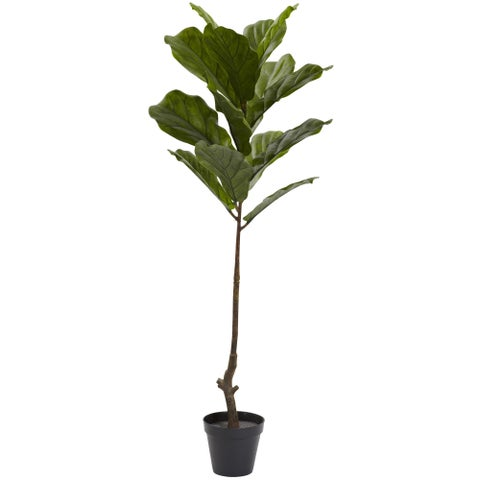 4-foot Fiddle Leaf Tree UV Resistant (Indoor/Outdoor)