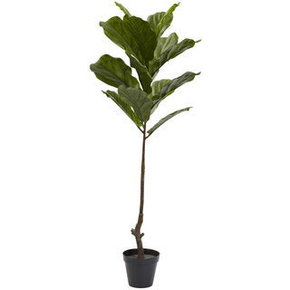 4-foot Fiddle Leaf Tree UV Resistant (Indoor/Outdoor)