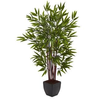 4 Foot Bamboo Silk Tree W/Planter