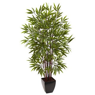5-foot Bamboo Silk Tree w/Planter