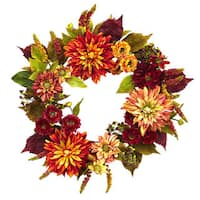 22-inch Dahlia  & Mum Wreath