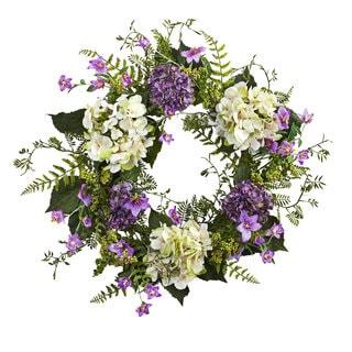 24-inch Hydrangea Berry Wreath