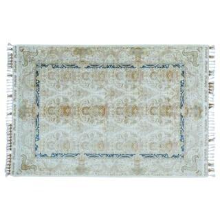 Soft Colors Silken Esfahan 400 KPSI Handmade Oriental Rug (5'6 x 8')