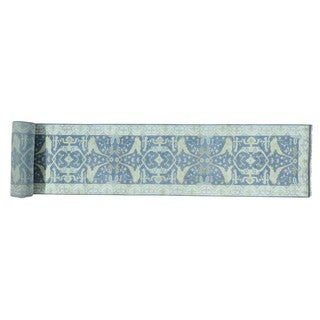 XL Runner Silver Wash Oushak Hand-knotted Oriental Rug (3'2 x 29')