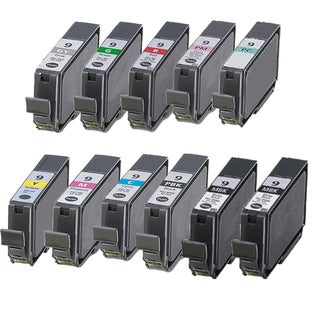 11PK PGI-9 2 MBK + PBK C M Y PC PM R G GY Compatible Inkjet Cartridge For Canon PIXMA Pro9500 (Pack of 11)