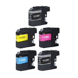 5 PK Compatible LC103 XL 2 BK + CMY Inkjet Cartridge For Brother MFCAN-J4410DW MFCAN-J4510DW (Pack of 5)