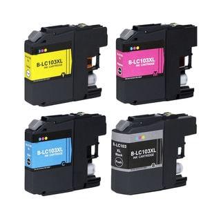 4 PK Compatible LC103 (BK C M Y) XL Inkjet Cartridge For Brother MFCAN-J4410DW MFCAN-J4510DW (Pack of 4)