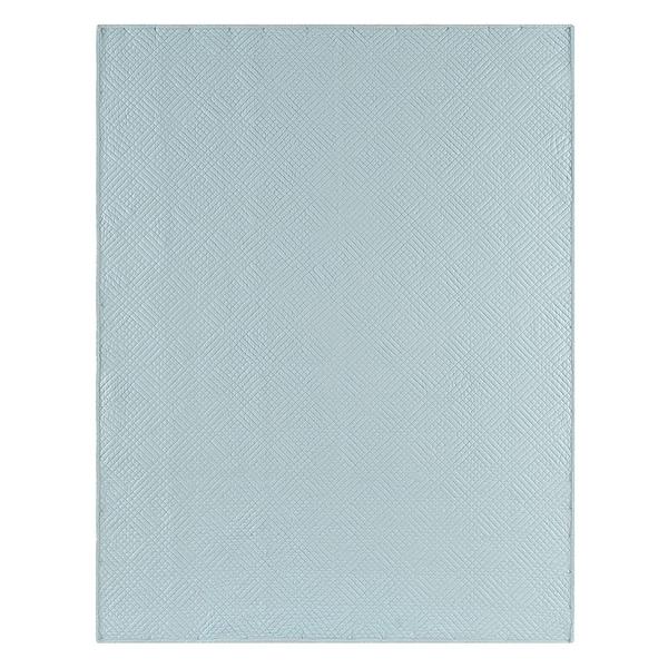 Hampton Silver Blue Reversible Cotton Throw