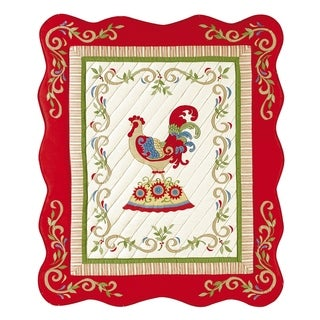 French Country Rooster Throw
