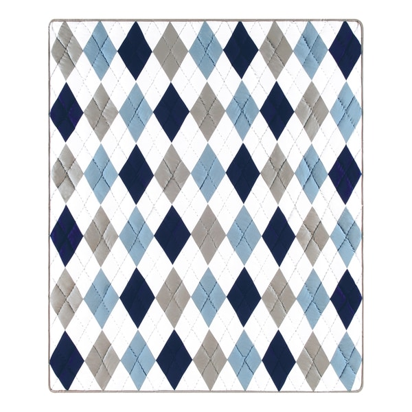 Argyle Blue Throw