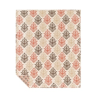 Shabby Chic Brown Throw