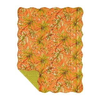 Barbados Sunset Reversible Cotton Throw