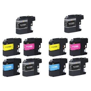 10 PK Compatible LC103 XL 4 BK + 2 x CMY Inkjet Cartridge For Brother MFCAN-J4410DW MFCAN-J4510DW (Pack of 10)
