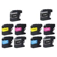 10 PK Compatible LC103 XL 4 BK + 2 x CMY Inkjet Cartridge For Brother MFCAN-J4410DW MFCAN-J4510DW (Pack of 10) - Black