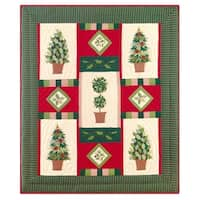 Festive Topiaries Throw