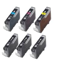 6PK CLI-8 3 BK + C M Y Compatible Inkjet Cartridge For Canon PIXMA IP4200 5200 6600D 6700D MP500 MP800 (Pack of 6)