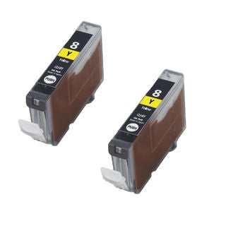 2PK CLI-8Y Yellow Compatible Inkjet Cartridge For Canon PIXMA IP4200 5200 6600D 6700D MP500 MP800 (Pack of 2)