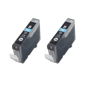 2PK CLI-8PC Photo Cyan Compatible Inkjet Cartridge For Canon PIXMA IP 5200R 6600D 6700D MP950 Pro 9000 (Pack of 2)