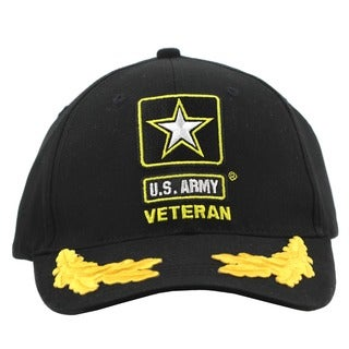 US Army Star Veteran Hat with Scrambled Eggs