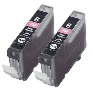 2PK CLI-8PM Photo Magenta Compatible Inkjet Cartridge For Canon PIXMA IP 5200R 6600D 6700D MP950 Pro 9000 (Pack of 2)