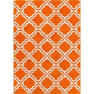 Well Woven Bright Modern Lattice Trellis Geometric Rug (3'3 X 5')