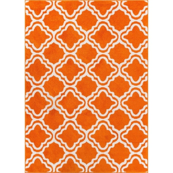 "Well Woven Bright Modern Lattice Trellis Geometric Area Rug - 3'3"" x 5'"