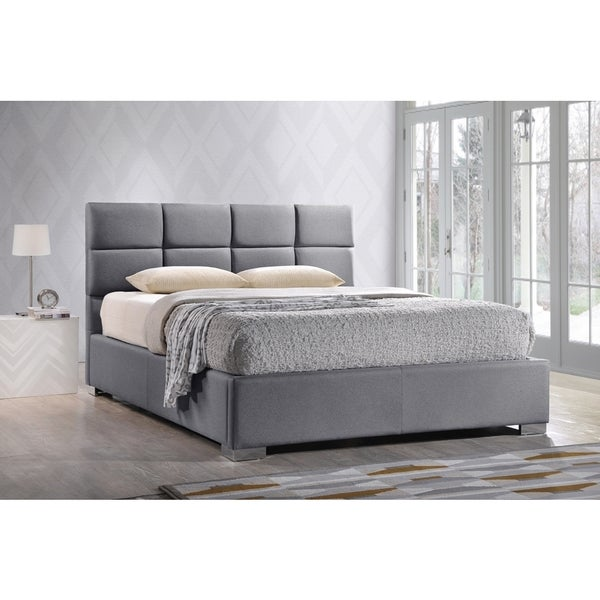 Contemporary Modern Beds: Baxton Studio Sophie Modern And Contemporary Grey Fabric