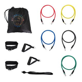 Bespolitan 12-piece Fitness Exercise Resistance Bands Workout Set|https://ak1.ostkcdn.com/images/products/10601348/P17673850.jpg?impolicy=medium