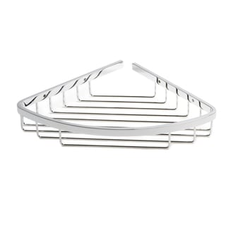 Italia Naples Chrome Curved Corner Shower Basket