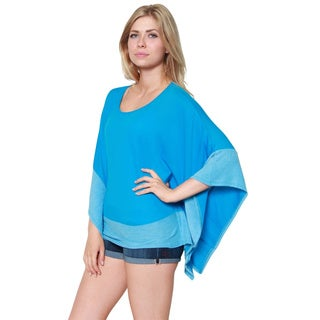 Free to Live Women's Lightweight French Terry Poncho Cardigan