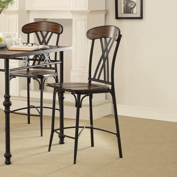 Jayden Contemporary Two Tone Ash Brown And Black Counter