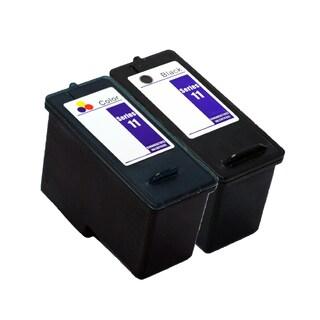 2PK KX701 / JP451 + KX703 / JP453 Black & Color Compatible Inkjet Cartridge For Dell 948 V505 V505w (Pack of 2)