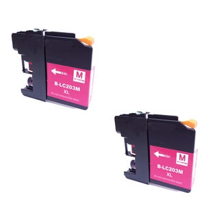 2 PK Compatible LC203 M XL Inkjet Cartridge For Brother DCP-J4120DW MFC-J4420DW (Pack of 2)