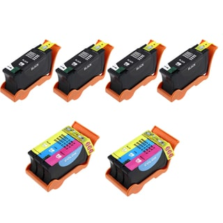 6PK 4 x T091N + 2 x T092N Black & Color Compatible Ink Cartridge For Dell V313 V313W P513W (Pack of 6)
