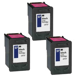 3PK HP C8727A (HP 27) Black Compatible Ink Cartridge For HP Deskjet 3320 3322 3420 (Pack of 3)