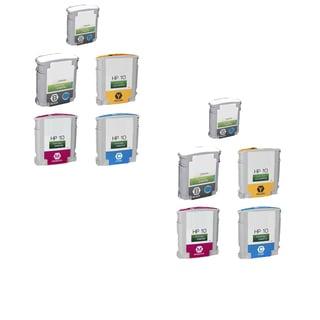 10PK C4841A - C4844A2 C 2Y 2M 4BK Compatible Ink Cartridge For HP Designjet 1000 1100 1100d (Pack of 10)