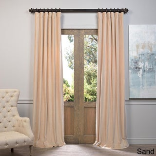 Exclusive Fabrics Vintage Cotton Velvet 96-inch Curtain Panel