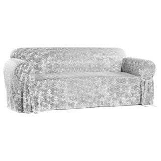 Classic Slipcovers Geo Print 1-piece Loveseat Slipcover